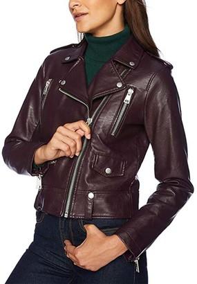 Levi's Women's Non-Denim Casual Jackets PLUM - Plum Fashion Moto Jacket - Women