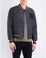 Alexander Mcqueen Embroidered-detail Wool-blend Bomber Jacket