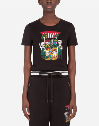 Dolce & Gabbana Jersey T-Shirt With Family Print