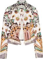 Caramolengo printed silk-twill jacket