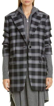 Michael Kors Collection Crushed Sleeve Oversize Blazer