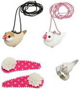 Pop Cutie Birds Ring, Necklaces & Hairclips Set