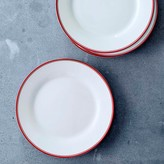 Williams-Sonoma Open Kitchen Bistro Salad Plates, Set of 4, Red