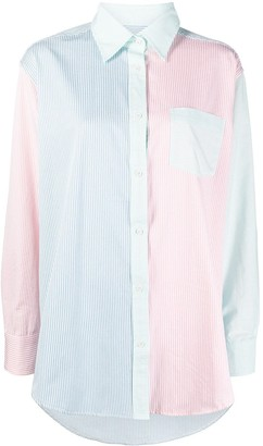 Solid & Striped Colour-Block Striped-Print Shirt