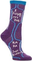 Blue Q Women's Novelty Crew Socks - (Womens Size) With Sock Ring