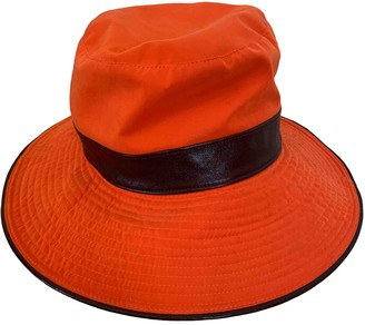 Hermes Orange Cloth Hats