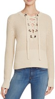 525 America Lace Up Chunky Knit Sewater