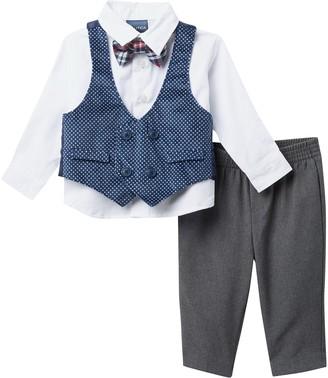 Nautica Polka Dot Velvet Vest 4-Piece Set (Baby Boys 0-9M)