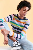 Silence & Noise Silence + Noise Rainbow Stripe Crew-Neck Sweater