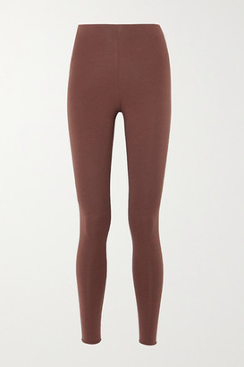 Skin Calypso Stretch Organic Pima Cotton Jersey Leggings - Brown