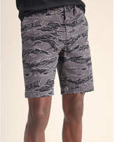 Express slim fit camo 9 inch flat front stretch shorts