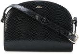 A.P.C. Demilune snakeskin embossed bag
