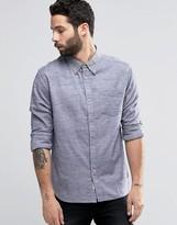 Bellfield Twin Stitch Chambray Shirt In Regular Fit