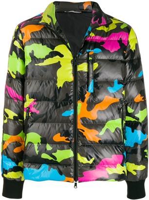 Valentino Multicoloured Camouflage Print Bomber Jacket