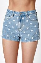 PacSun In Love Blue Denim Mom Shorts