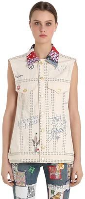 Tommy Hilfiger Collection Patchwork Cotton Denim Vest
