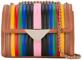 Sara Battaglia double chains shoulder bag - women - Calf Leather/Metal (Other)/glass - One Size