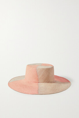 ARTESANO Lucca Two-tone Straw Hat - Orange