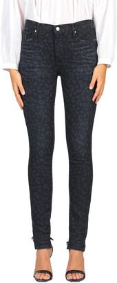 Black Orchid Gisele Leopard-Print Super Skinny Denim Jeans