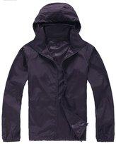 Alafen Unisex Lightweight Waterproof Sun Protection Jacket Skin Windbreaker X-Large
