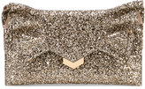 Jimmy Choo 'Isabella' glittered clutch - women - Calf Leather/metal - One Size