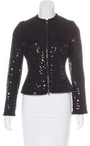 Andrew Gn Sequin Zip Jacket