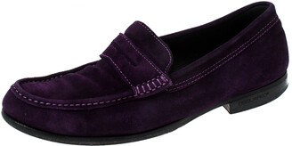 DSQUARED2 Purple Suede Penny Loafers Size 40.5
