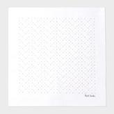 Paul Smith Men's White 'Artist Stripe' Dot Print Pocket Square