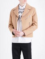 Neil Barrett Biker double-faced wool-blend jacket