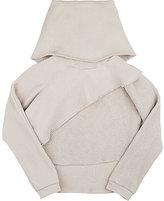Mimobee Cotton Layered Sweatshirt-NUDE