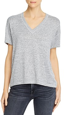 Rag & Bone Avryl Ribbed-Panel Tee