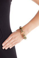 Kenneth Jay Lane Gold-Plated Resin Leopard Bracelet