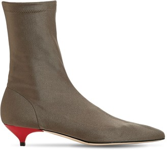 Gia Couture 35mm Stretch Knit Sock Ankle Boots