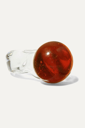 Maryam Nassir Zadeh Sphere Glass Ring - Orange