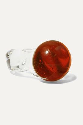 Maryam Nassir Zadeh Sphere Glass Ring - Orange