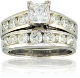 FINE JEWELRY 3 CT. T.W. Diamond 14K White Gold Bridal Ring Set