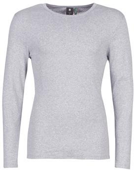 G Star Raw BASE TEE men's Long Sleeve T-shirt in Grey