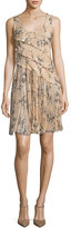 Jason Wu Floral-Print Chiffon Scoop-Back Dress, Blush
