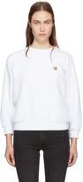 MAISON KITSUNÉ White Fox Head Patch Sweatshirt