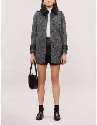 Claudie Pierlot Herringbone epaulette twill jacket