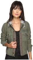 Free People Weekend Wanderer Military Jacket Women's Coat
