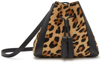 Mulberry Mini Millie Camel and Black Leopard Haircalf and Silky Calf
