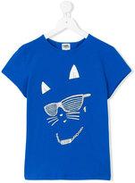 Karl Lagerfeld cat face T-shirt - kids - Cotton/Spandex/Elastane - 14 yrs