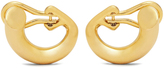 Charlotte Chesnais Monie small gold-plated clip-on earrings