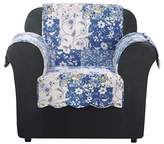 Sure Fit Blue Heirloom Bluebell Floral Chair Furniture Cover