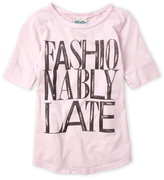 Junk Food Clothing Girls 7-16) Fashionably Late Tee