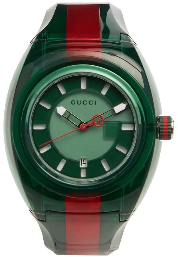 Gucci Sync Web-striped watch