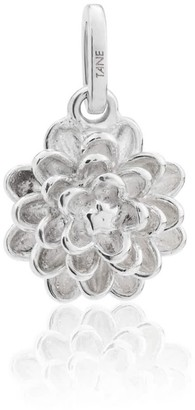 Tane Exquisitely Detailed Dahlia Charm Handmade In Sterling Silver