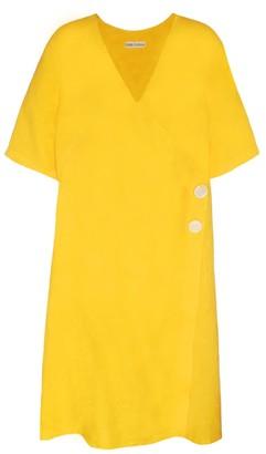 Haris Cotton Hebe Wrap Effect Dress Crocus