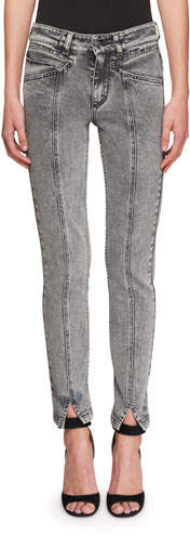Givenchy High-Waist Lightning Bolt Straight-Leg Jeans